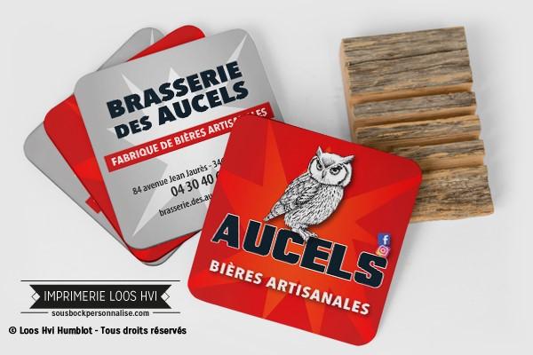 Dessous de verre sous bock Brasserie artisanale Aucels I Impression sous bock LOOS HVI