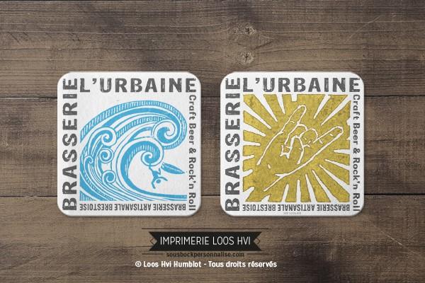 Dessous de verre sous bock biere brasserie urbaine I Impression sous bock LOOS HVI