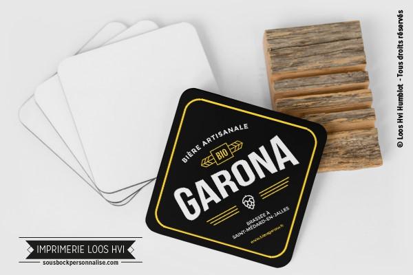 Dessous de verre sous bock biere artisanale garona I Impression sous bock LOOS HVI