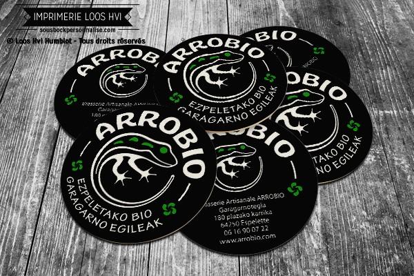 Dessous de verre sous bock pour Arrobio I Impression sous bock LOOS HVI