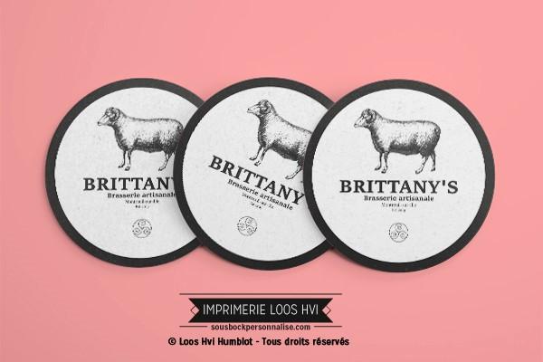 Dessous de verre sous bock pour Brittanys I Impression sous bock LOOS HVI
