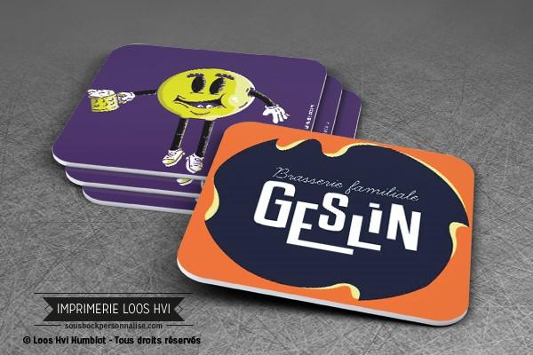 Dessous de verre sous bock pour Geslin I Impression sous bock LOOS HVI