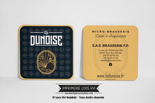 Dessous de verre sous bock pour La Dunoise I Impression sous bock LOOS HVI