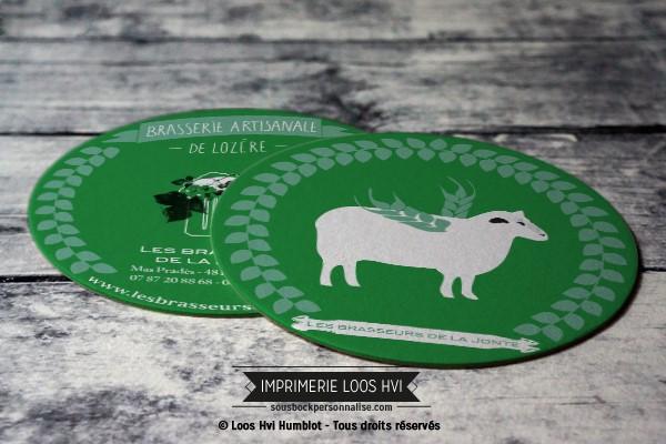 Dessous de verre sousbock personnalise pour la Brasserie artisanale de Lozere - Les Brasseurs de la Jonte I Impression sous bock