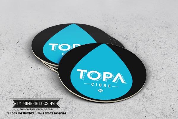 Impression de dessous de verre - sous bock imprimé et personnalisé pour la Topa cidre