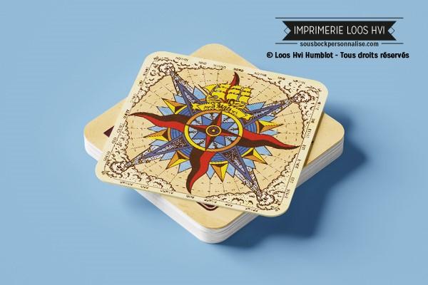 Dessous de verre Sous-bock imprimé personnalisé pour la bière la strasbourgeoise