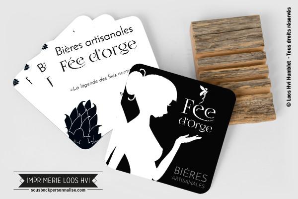 Dessous de verre Sous-bock imprimé personnalisé pour les bière artisanales Fée d\\\'Orge