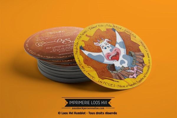 Dessous de verre Sous-bock imprimé personnalisé pour la Brasserie De Sutter