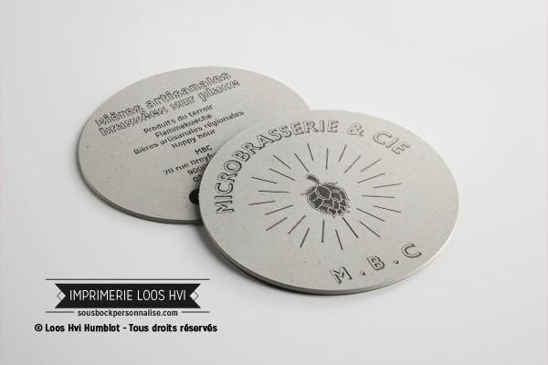 Dessous de verre Sous-bock imprimé personnalisé pour MBC L\\\'atelier