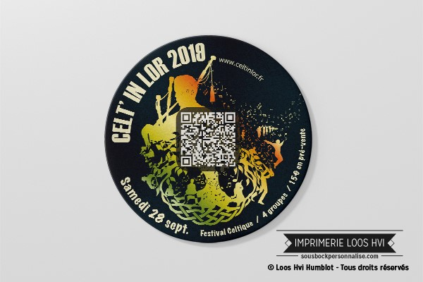 Dessous de verre Sous-bock imprimé personnalisé pour le festival celtique