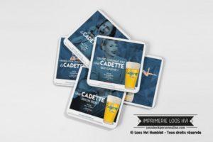 Impression de Dessous de verre sous bock - Impression personnalisée pour la Brasserie Castelain