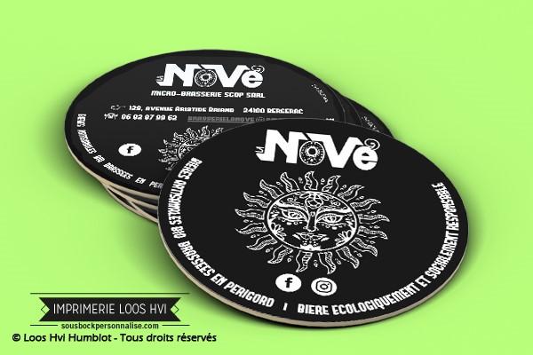 Sous-bock dessous de verre biere brasserie Nove