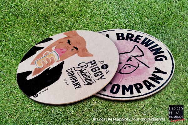Sous-bock imprimé et personnalisé Piggy Brewing