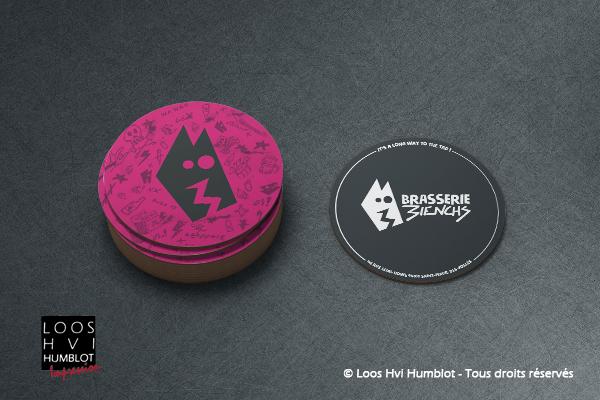 Sous-bock imprimé et personnalisé pour la Brasserie 3IENCHS