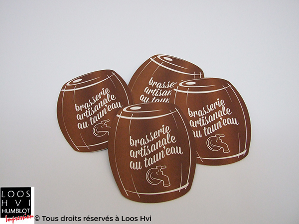 Sous-bock imprimé et personnalisé pour la Brasserie artisanale autauneau par l'imprimerie Loos Hvi