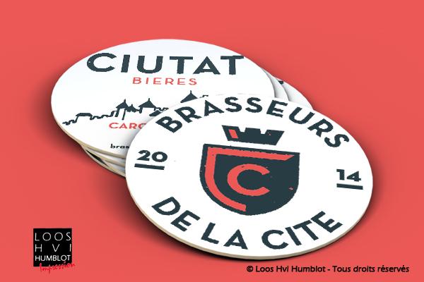 Sous-bock imprimé et personnalisé pour la Brasserie de la Cité