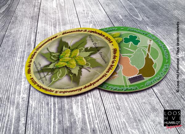 Sous-bock imprimé et personnalisé <br>pour la ferme beck à bailleul <br>par l'imprimerie Loos Hvi