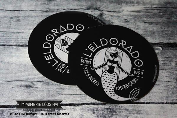 Sous bock personnalisé rond pour le bar à bière Eldorado