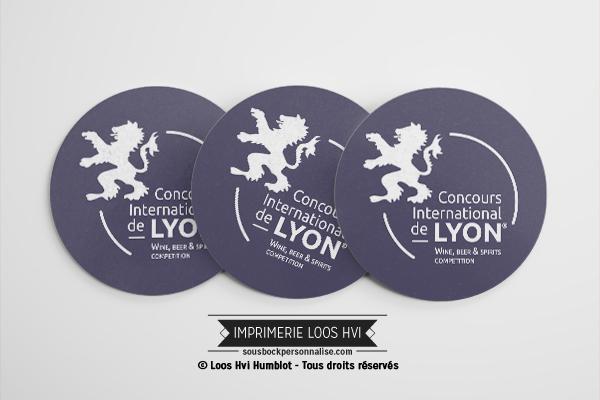 Sous-bock rond imprimé et personnalisé pour Armonia Lyon