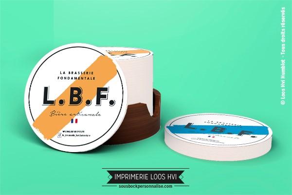 Sous-bock rond imprimé et personnalisé pour la Brasserie Fondamentale - Bière artisanale