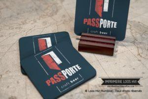 Sous bock sous verre rond imprime et personnalise pour Passporte croft beer Sousbockpersonnalise.com Impression Loos Hvi