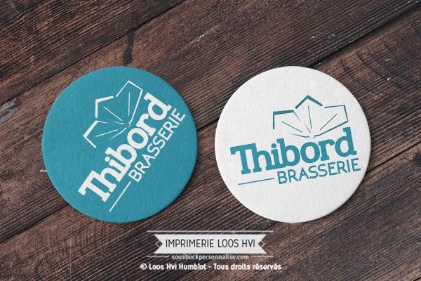 Sous bock dessous de verre imprimé et personnalisé pour la Brasserie THIBORD