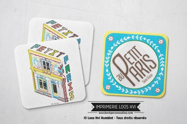 Dessous de verre sous bock biere Au petit Paris I Impression sous bock LOOS HVI
