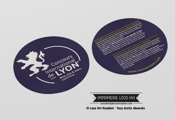 Dessous de verre sous bock biere Concours International de Lyon I Impression sous bock LOOS HVI
