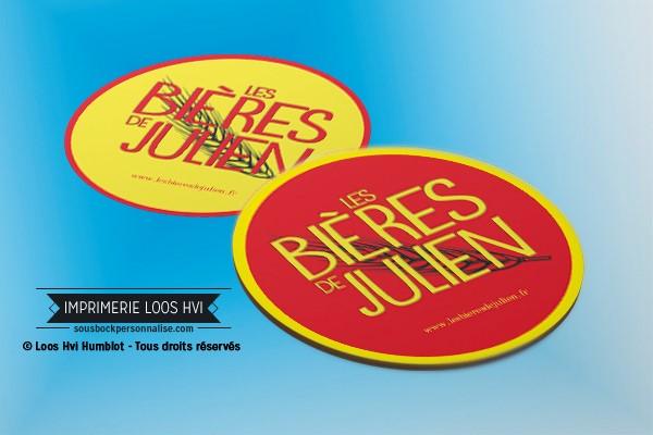 Dessous de verre sous bock biere les bieres de Julien I Impression sous bock LOOS HVI