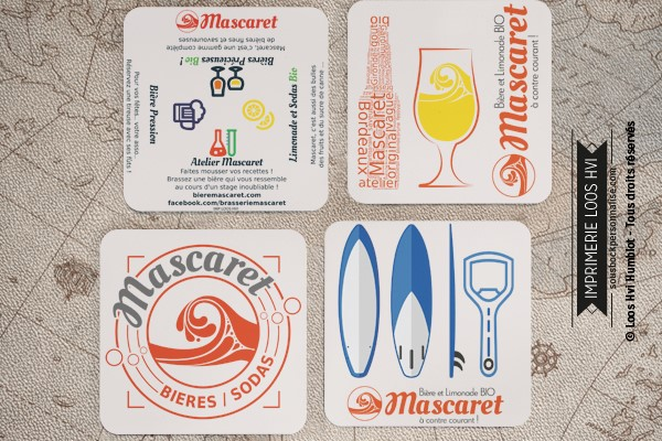 Dessous de verre sous bock biere Mascaret I Impression sous bock LOOS HVI