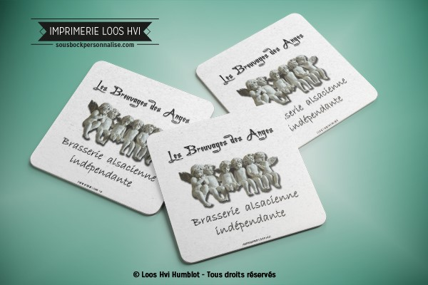 sous bock dessous de verre imprimeur imprime les breuvages des anges brasserie alsacienne