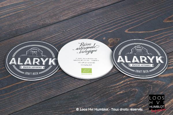 Sous bock imprimé personnalisé pour la Brasserie ALARYK par Loos Hvi